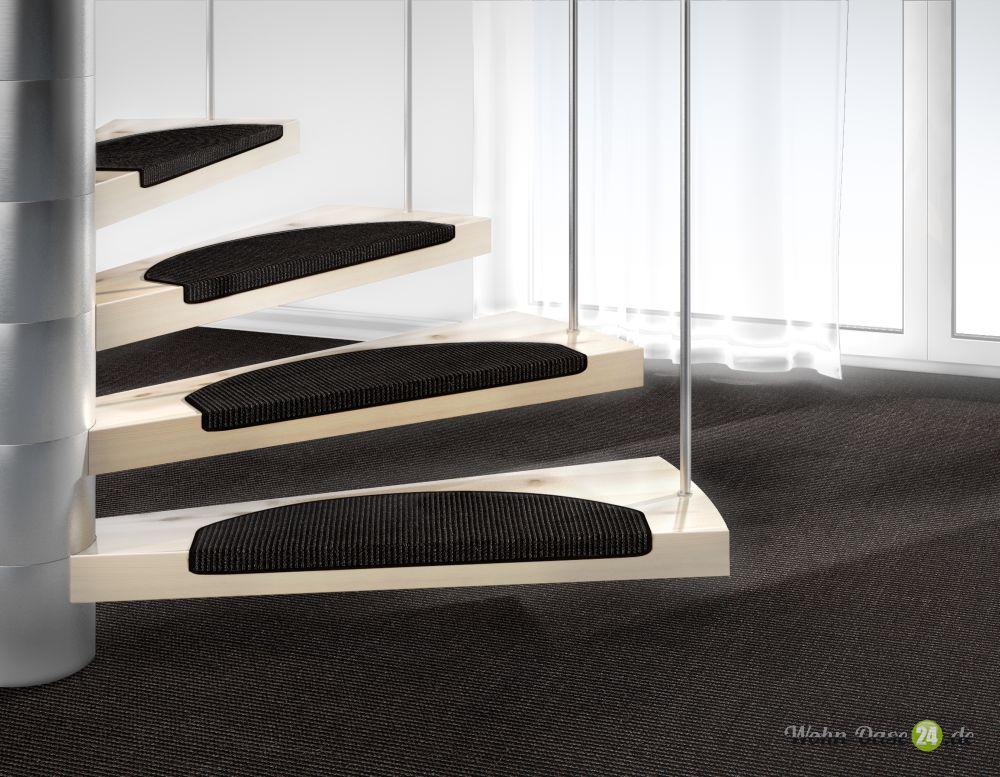 Stufenmatte Mara Sisal von DEKOWE 26x65cm 005 schwarz