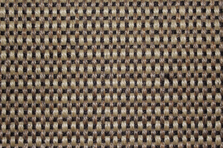 Stufenmatte Brasilia Sisal von DEKOWE 25x65cm 001 schwarz